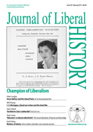 Journal of Liberal History, Spring 2013 Cover