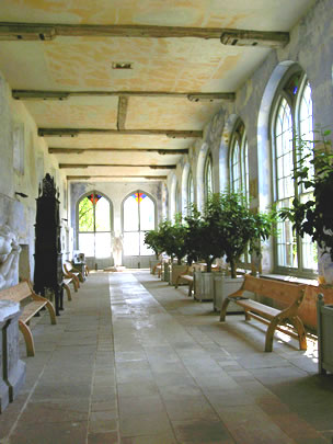 The interior of the orangery at Knole Park